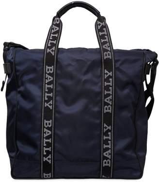 Bally Nylon Tote Bag W/ Logo Bands