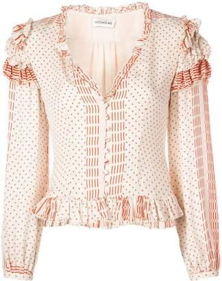 Nicholas polka dot blouse