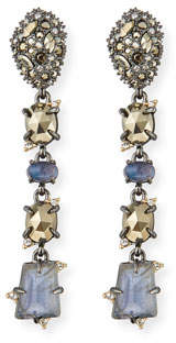 Alexis Bittar Linear Mixed Cut Crystal Drop Earrings