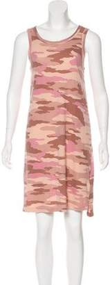 Current/Elliott Army Print Midi Dress