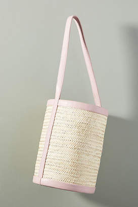 Parme Marin Structured Large Straw Bucket Bag