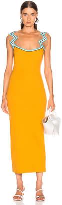 Y/Project Zig Zag Beaded Dress in Mustard | FWRD