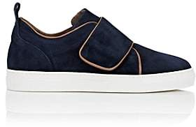 Barneys New York WOMEN'S STRAP-DETAILED SUEDE SNEAKERS - NAVY SIZE 5