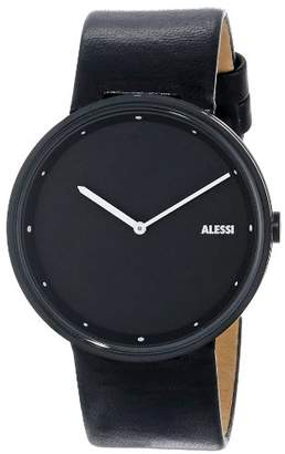 "Alessi Men's AL13003""Out Time"" Stainless Steel Watch with Leather Band"