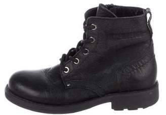 Bikkembergs Boys' Leather High-Top Boots