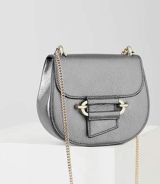 Reiss Maltby Mini - Mini Cross-body Bag in Silver