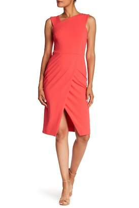Rachel Roy Crepe Back Scuba Midi Dress