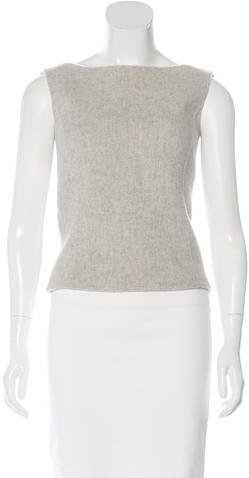 Ralph Lauren Collection Wool-Blend Sleeveless Top