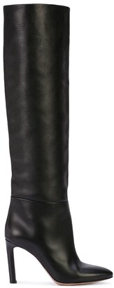 Oscar de la Renta knee length high heel boots
