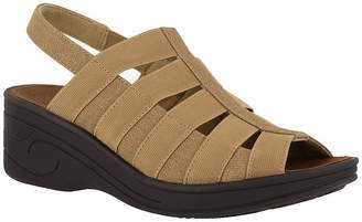 a2a11d58351d Easy Street Shoes Brown Wedge Women s Sandals - ShopStyle