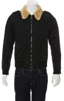 Christian Dior Sherpa-Trim Denim Jacket
