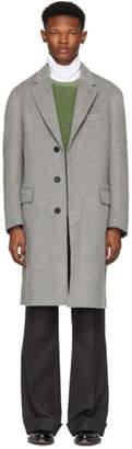 Brioni Grey Classic Car Coat