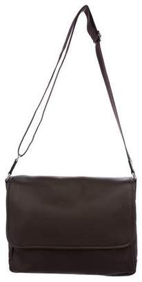 Barneys New York Barney's New York Pebbled Leather Messenger Bag