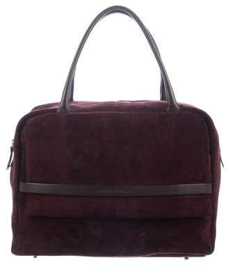 Brunello Cucinelli Leather-Trimmed Shoulder Bag
