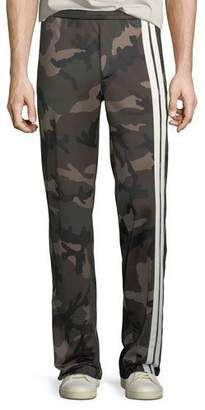 Valentino Men's Striped Camouflage Track Pants