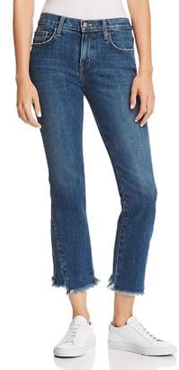 Current/Elliott The Fan Kick Flare Frayed Jeans in Brush