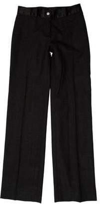Tory Burch Wool Mid-Rise Wide-Leg Pants