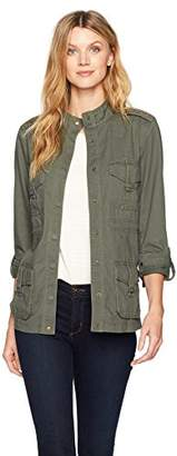 Democracy Women's Utility Jacket W Lace up Detail