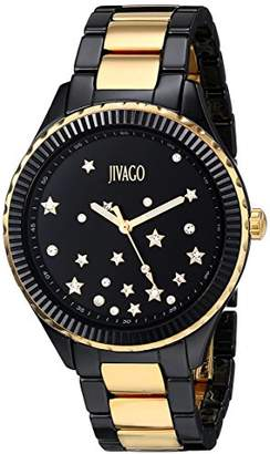 Jivago Women's JV2417 Sky Analog Display Swiss Quartz Two Tone Watch