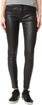 DL1961 Jessica Alba No.3 Instasculpt Skinny Leather Pants $878 thestylecure.com