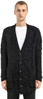 Isabel Benenato Shredded Wool & Cotton Knit Cardigan