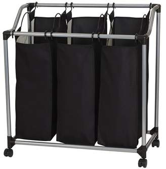 Household Essentials 3-Bag Laundry Clothes Hamper Sorter with Vented Bags