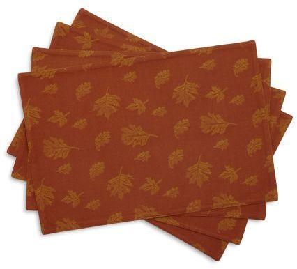 Sur La Table Jacquard Leaf Placemats, Set of 4