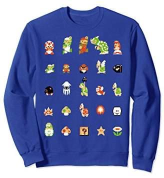 Nintendo Super Mario 8-bit Retro Icon Grid Sweatshirt