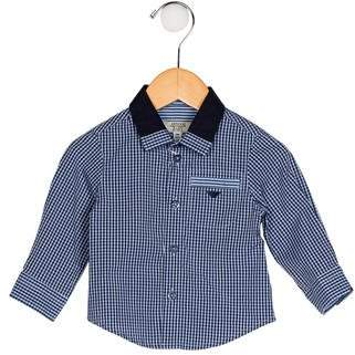 Armani Junior Boys' Printed Button-Up Shirt