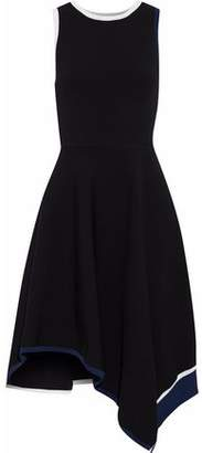 Derek Lam 10 Crosby Asymmetric Striped Knitted Dress