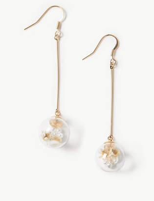 Marks and Spencer Trapped Flower Drop Earrings