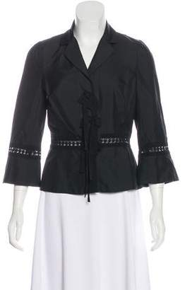 Robert Rodriguez Crocheted Bow-Accented Jacket w/ Tags
