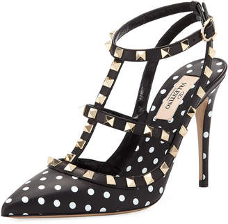 Valentino Rockstud Dotted Leather Pumps