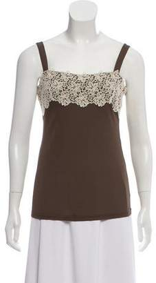 Valentino Lace-Trimmed Tank Top
