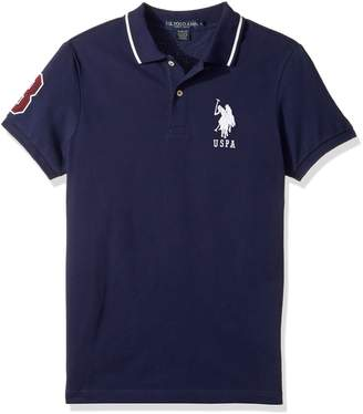 U.S. Polo Assn. Men's Slim Fit Solid Short Sleeve Pique Polo Shirt