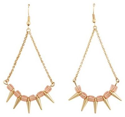 Charlotte Russe Beads & Spikes Dangle Earrings