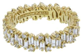 Suzanne Kalan Baguette and Round Diamond Firework Ring - Yellow Gold