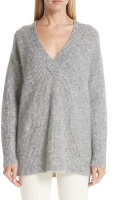 Ganni Soft Mohair Blend Knit Sweater