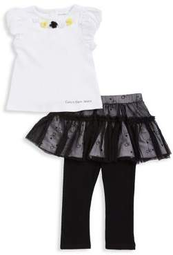 Calvin Klein Jeans Baby Girls Two-Piece Top and Skirted Legging Set