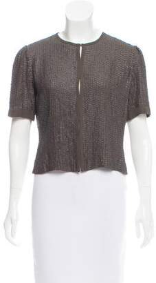 Twelfth Street By Cynthia Vincent Sequin Short Sleeve Jacket