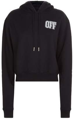 Off-White Lips Motif Cropped Hoodie