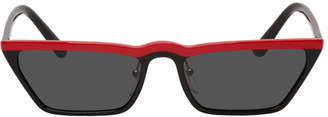 Prada Black and Red Ultravox Sunglasses