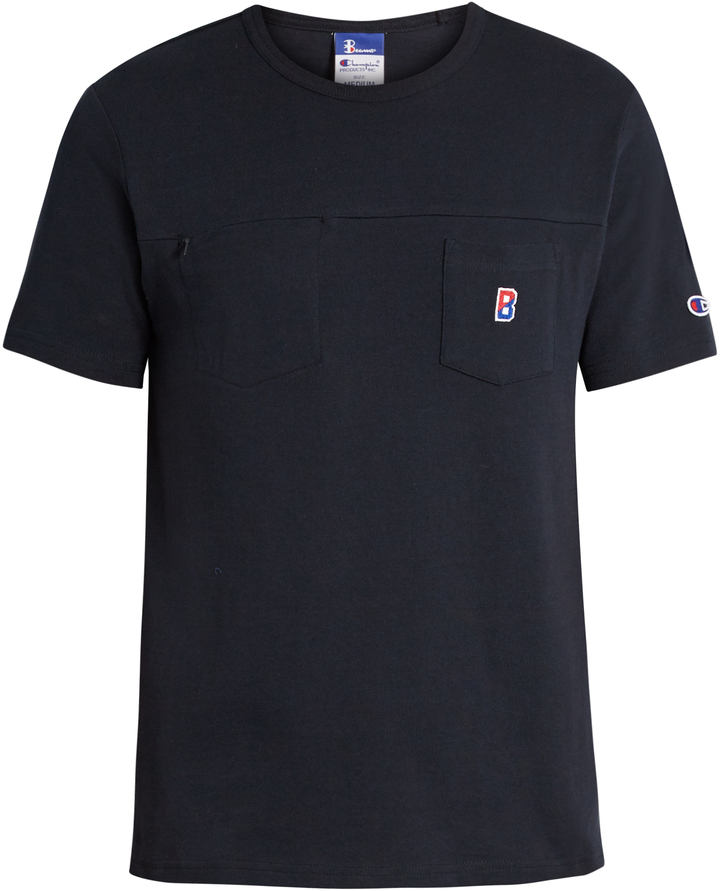 CHAMPION X BEAMS Crew-neck cotton T-shirt