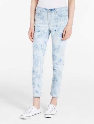 Calvin Klein ultimate skinny light marble ankle jeans