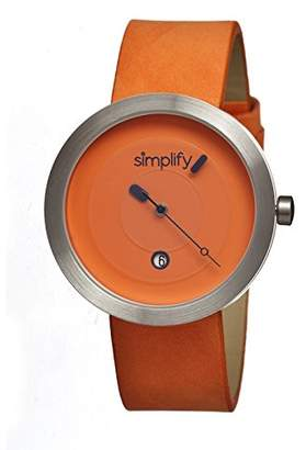 Simplify Men's 'The 300' Quartz Stainless Steel and Leather Watch