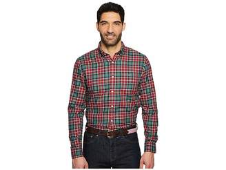 Vineyard Vines Bold Point Slim Performance Flannel Tucker Shirt Men's Clothing