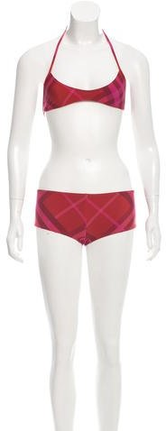 Burberry Brit Nova Check Two-Piece Swimsuit