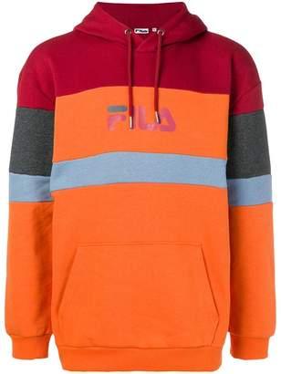 Fila patched logo drawstring hoodie