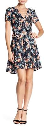 French Connection Delphine Floral V-Neck Dress