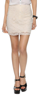 Forever 21 Short Crochet Skirt